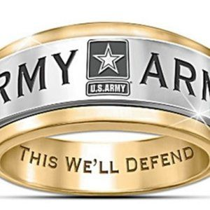 New U.S. Army This We'll Defend Unisex Ring